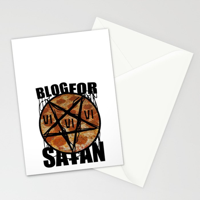 BLOG FOR SATAN Stationery Cards