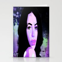 aaliyah Stationery Cards featuring Aaliyah by UnifiedGlory