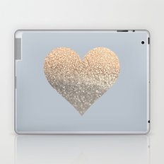 GATSBY GOLD HEART GREY II November Skies Laptop & iPad Skin