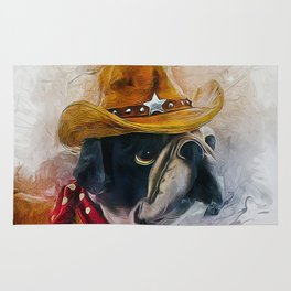 Cowboy Bulldog Rug