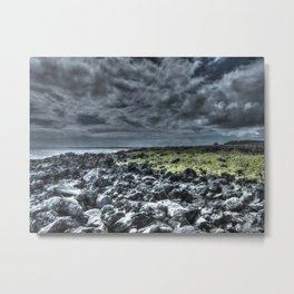 dark clouds and rock Metal Print