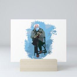 Hygge Bernie Mini Art Print