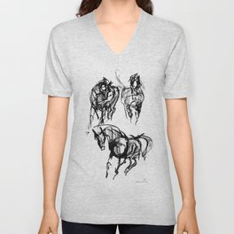 Horses (Trio) Unisex V-Neck