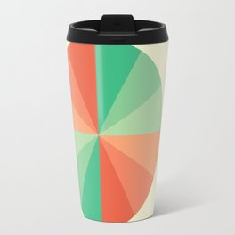 The Coral-Mint Wheel Travel Mug