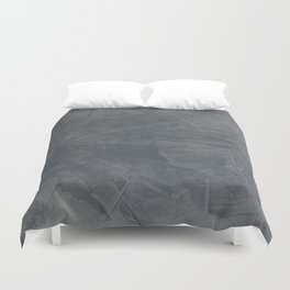Slate Gray Stucco - Faux Finishes - Rustic Glam Duvet Cover