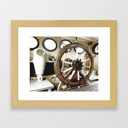 Captains Wheel photography Framed Art Print