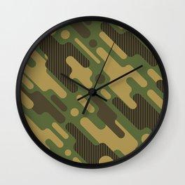 Retro Camouflage Pattern Wall Clock