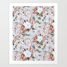 Wild botanical garden I Art Print