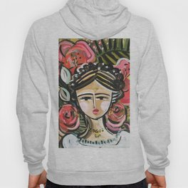 "Portrait ""Mexican Girl"" Face art Hoody"