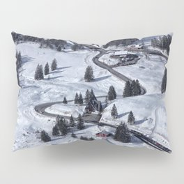 Mountain Winter Landscape Pillow Sham