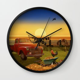 Nostalgic Country Life Wall Clock