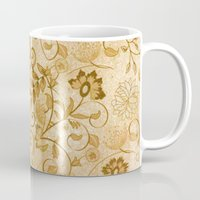 floral pattern Mugs featuring Floral pattern by nicky2342
