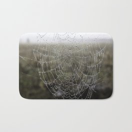 wet spider web Bath Mat