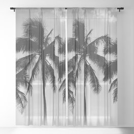 Hawaiian Palms II Sheer Curtain