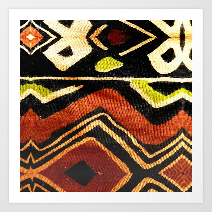 Africa Design Fabric Texture Art Print By Bluedarkatlem Society6