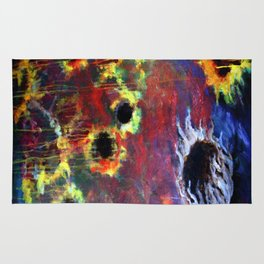 FIERY SUNS ABSTRACT DESIGN Rug