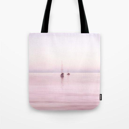 pink Bahama sunrise with sail boats Tote Bag