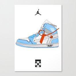 Jordan x Off White (baby blue) Canvas Print