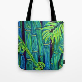 ʻOhe Polū - Blue Bamboo Tote Bag