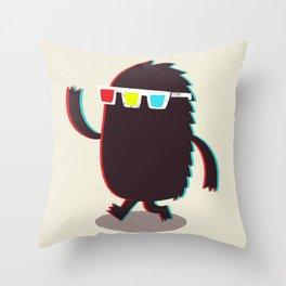 MONSTER 3d Throw Pillow