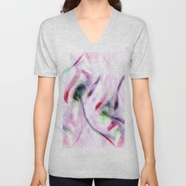 Candy Cane Abstract Unisex V-Neck