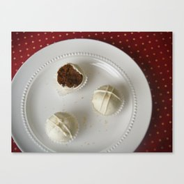 Gingerbread Cake Truffles Canvas Print