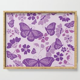 Monarch Blooms Serving Tray