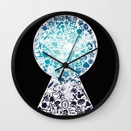 Kingdom Keyhole (blue) Wall Clock