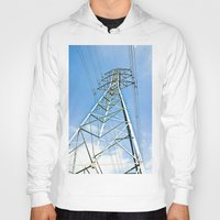 the wire Hoodies featuring High Wire by Kim Ramage