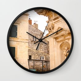 Terrace in Old Town Europe #decor #society6 Wall Clock