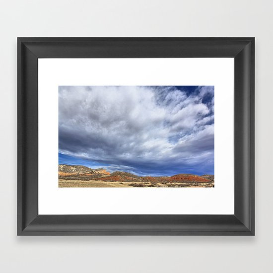 Red Mountain Open Space Framed Art Print