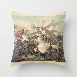 Civil War Assault on Fort Sanders Nov. 29 1863 Throw Pillow