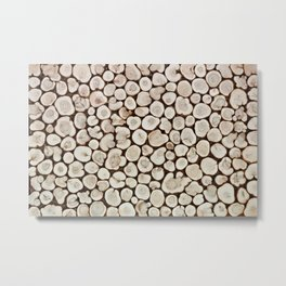 Background of wooden slices tree Metal Print