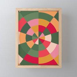 Colourful Wheel of Fortune Framed Mini Art Print