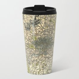 Map Of London 1837 Travel Mug