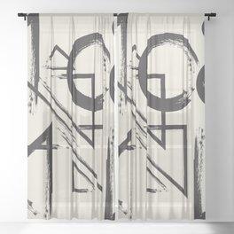 abstract drawing Sheer Curtain