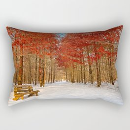 Ruby Winter Trail Rectangular Pillow