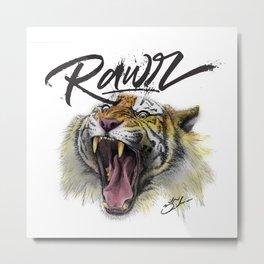 Tiger Rawr Metal Print