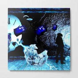 TARDIS BLUE Metal Print