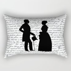 Pride and Prejudice design - White Rectangular Pillow