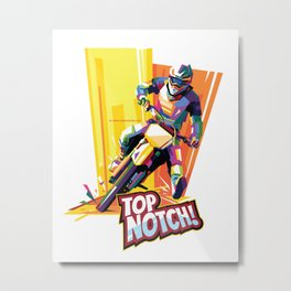 Motocross Top-notch WPAP Metal Print