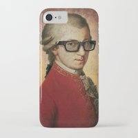 mozart iPhone & iPod Cases featuring Funny Hipster Mozart by Paul Stickland for StrangeStore