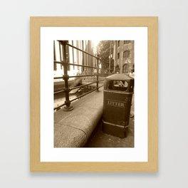 London Trash Talk Framed Art Print