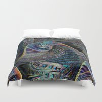 architect Duvet Covers featuring the delusional architect by David  Gough
