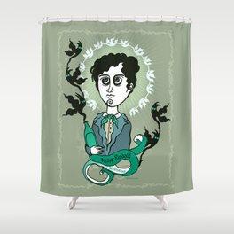 Rimbaud Holy Writer Shower Curtain