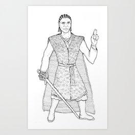 Star Knight 2 Art Print