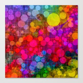 Rainbow Bubbles Abstract Design Canvas Print
