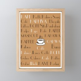 Coffee Cafe Subway Art 2.0 Framed Mini Art Print