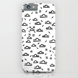Libra Symbol Pattern Simple Black and White Drawn iPhone Case