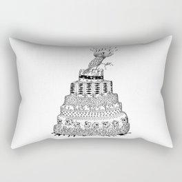 Death Cake and bird Rectangular Pillow
